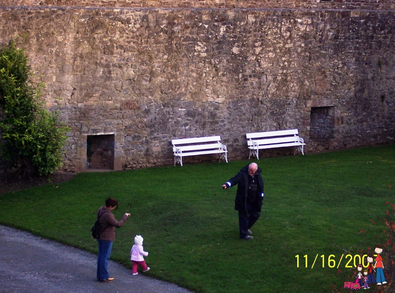 Making friends at Cahir Castle, Tipperary, Ireland