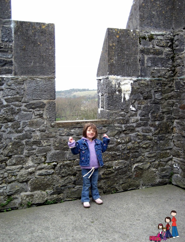 Brenna at the top of Bunratty Castle