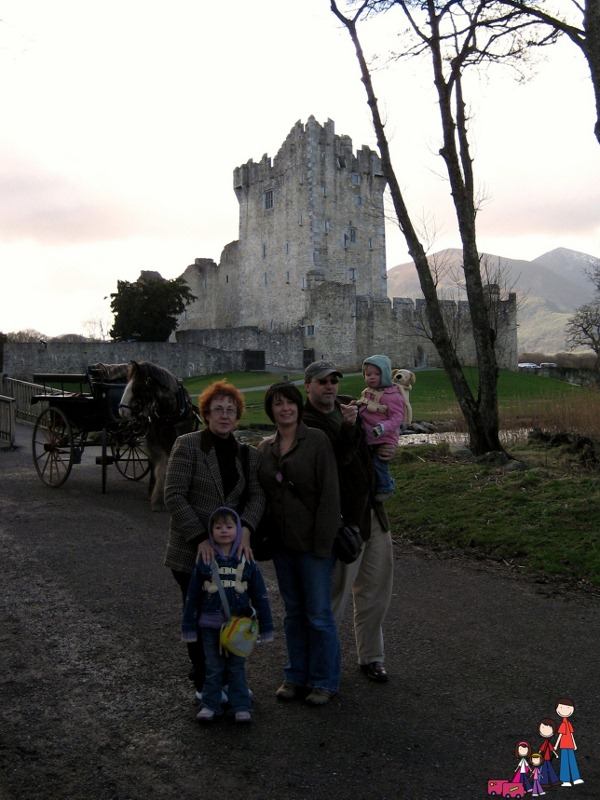 At Ross Castle near Killarney, Ireland
