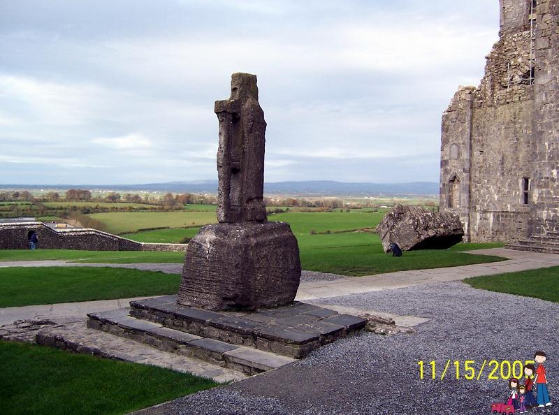 St Patrick's Cross Replica at the Rock of Cashel; Ireland