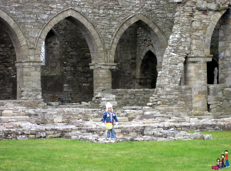 Playing the the Cloister Garth at Jerpoint Abbey, Ireland