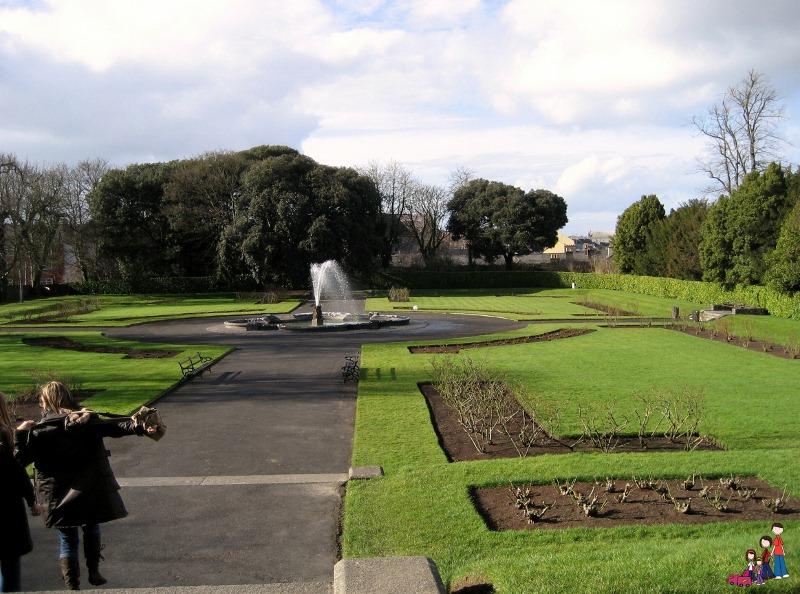 Kilkenny Castle Garden in early spring