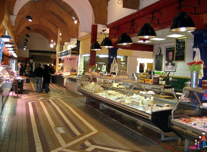Aisles of Cheese at the English Market in Cork City
