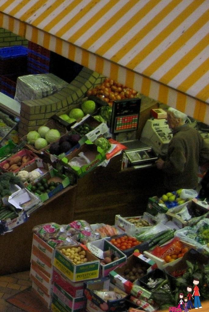 Vegetable Stand, English Market in Cork, Ireland