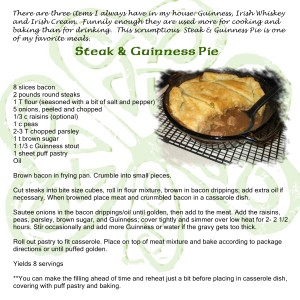 Favorite Irish Recipes - Steak & Guinness Pie