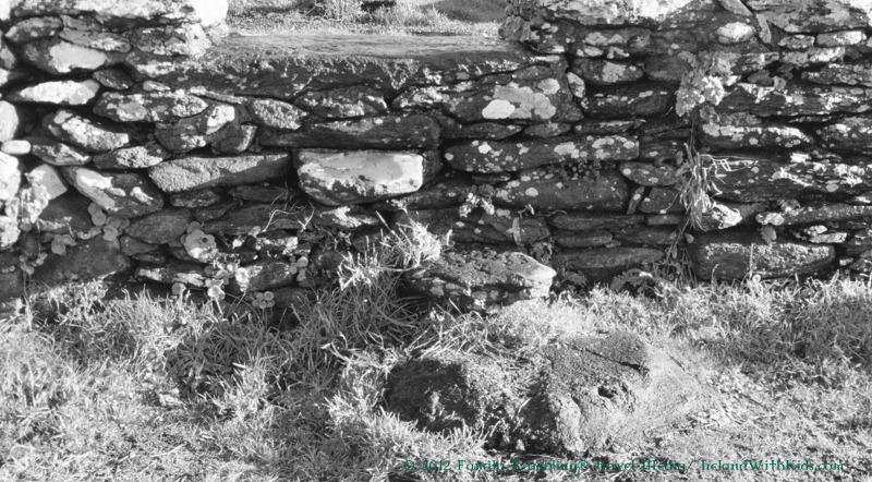 Steps to Kilmalkader Churchyard, Dingle Peninsula, Ireland