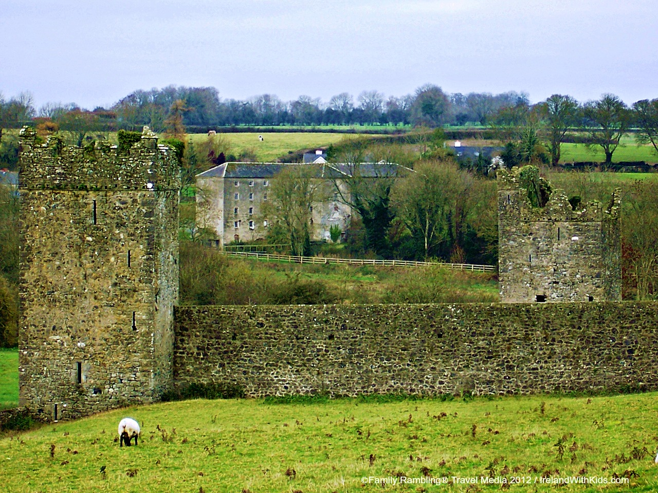 Kells Priory and Hutchinson's Mill, County Kilkenny, Ireland