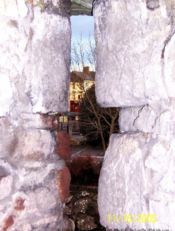Cahir Ireland viewed through castle arrow slit