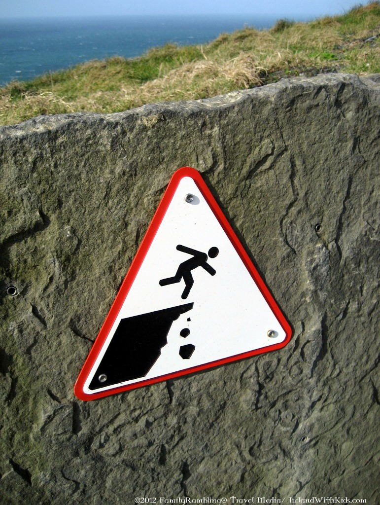 Cliffs of Moher Warning Sign