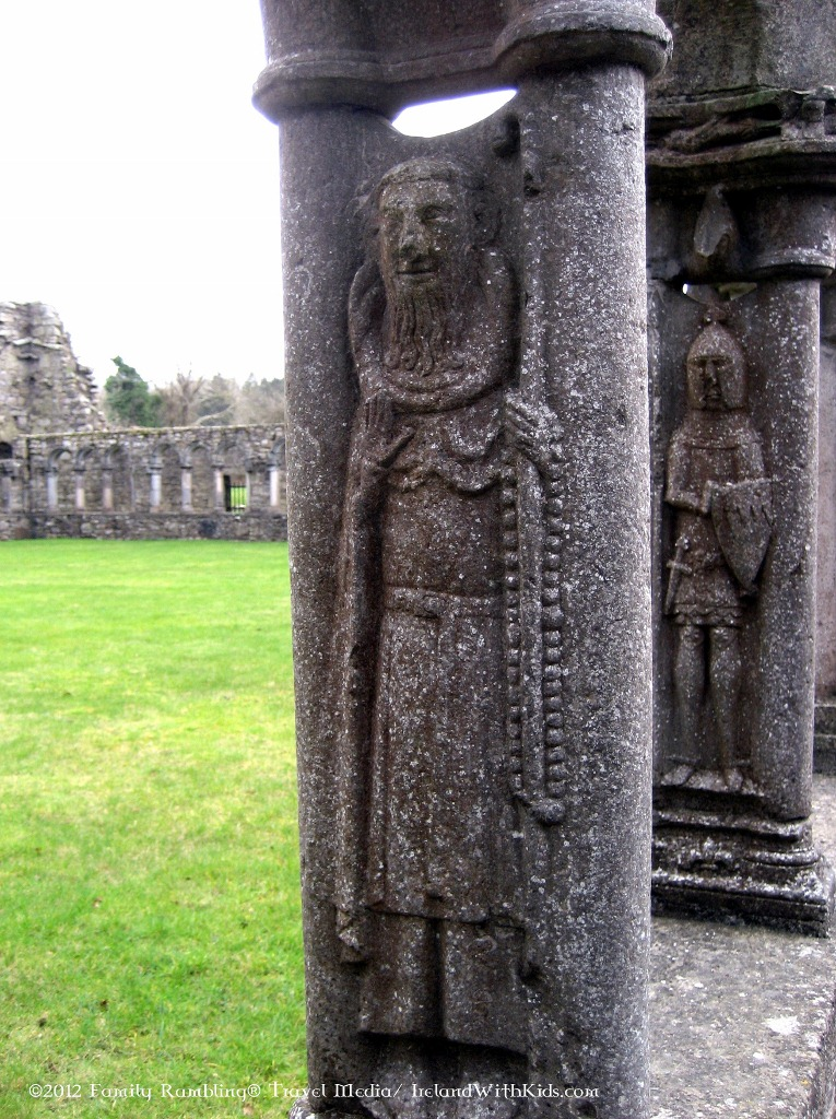 Carving of Bishop at Jerpoint Abbey