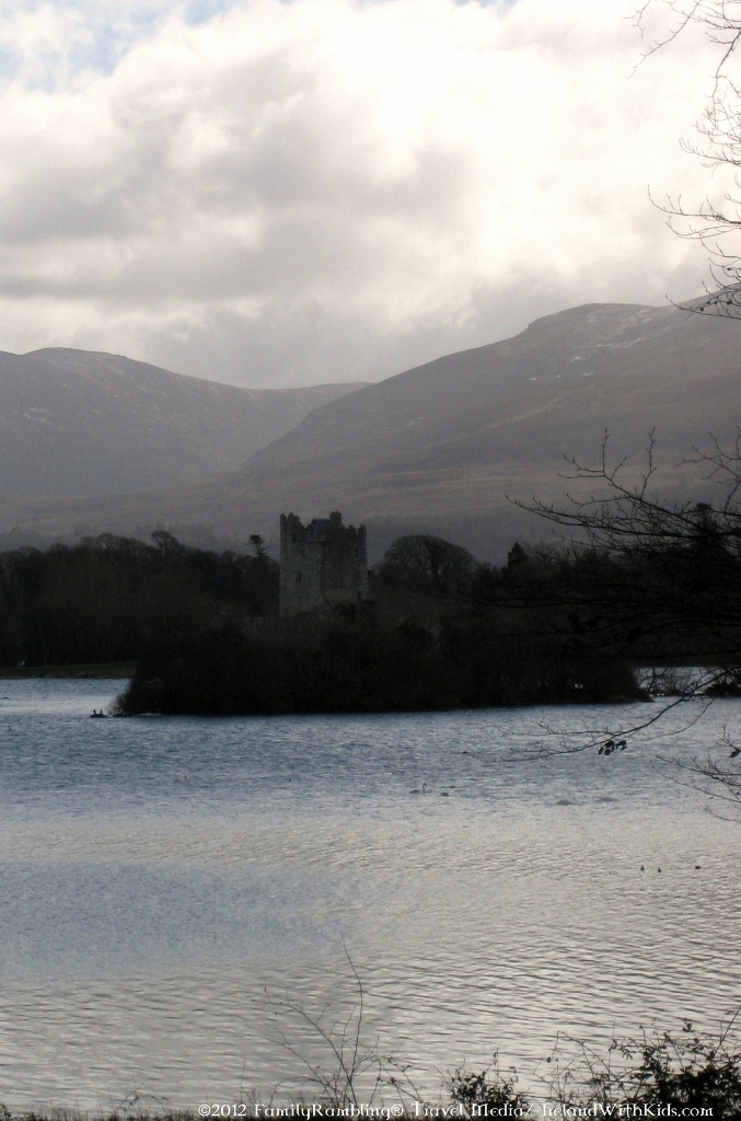 Ross Castle near Killarney as viewed from a Jaunting Cart