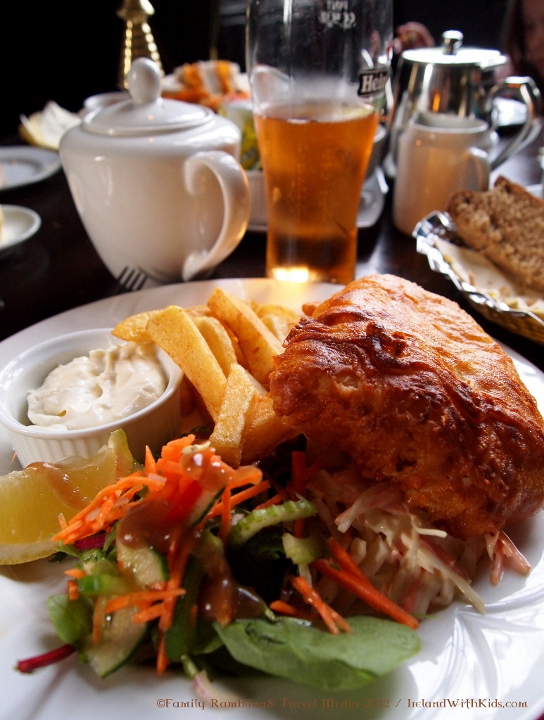 Fish & Chips at Kinnitty Castle in County Offaly, Ireland
