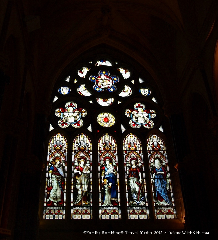 Stained Glass Window at Kylemore Abbey Gothic Cathedral