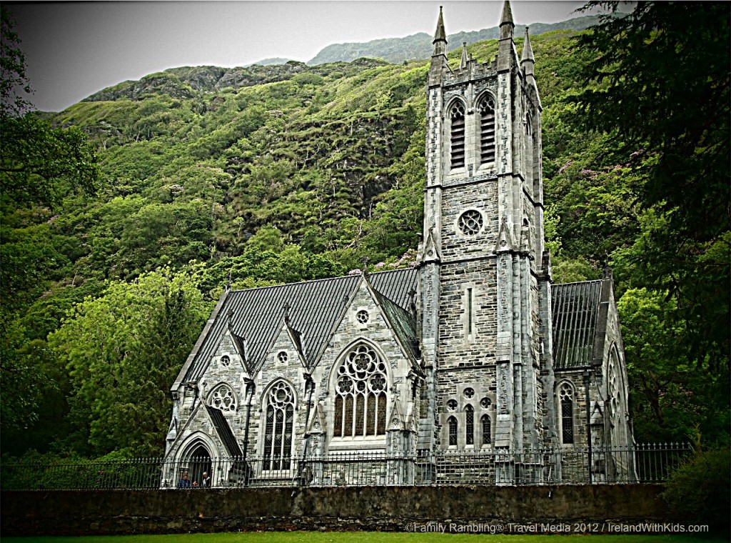 Gothic Cathedral at Kylemore Abbey, Connemara, County Galway, Ireland