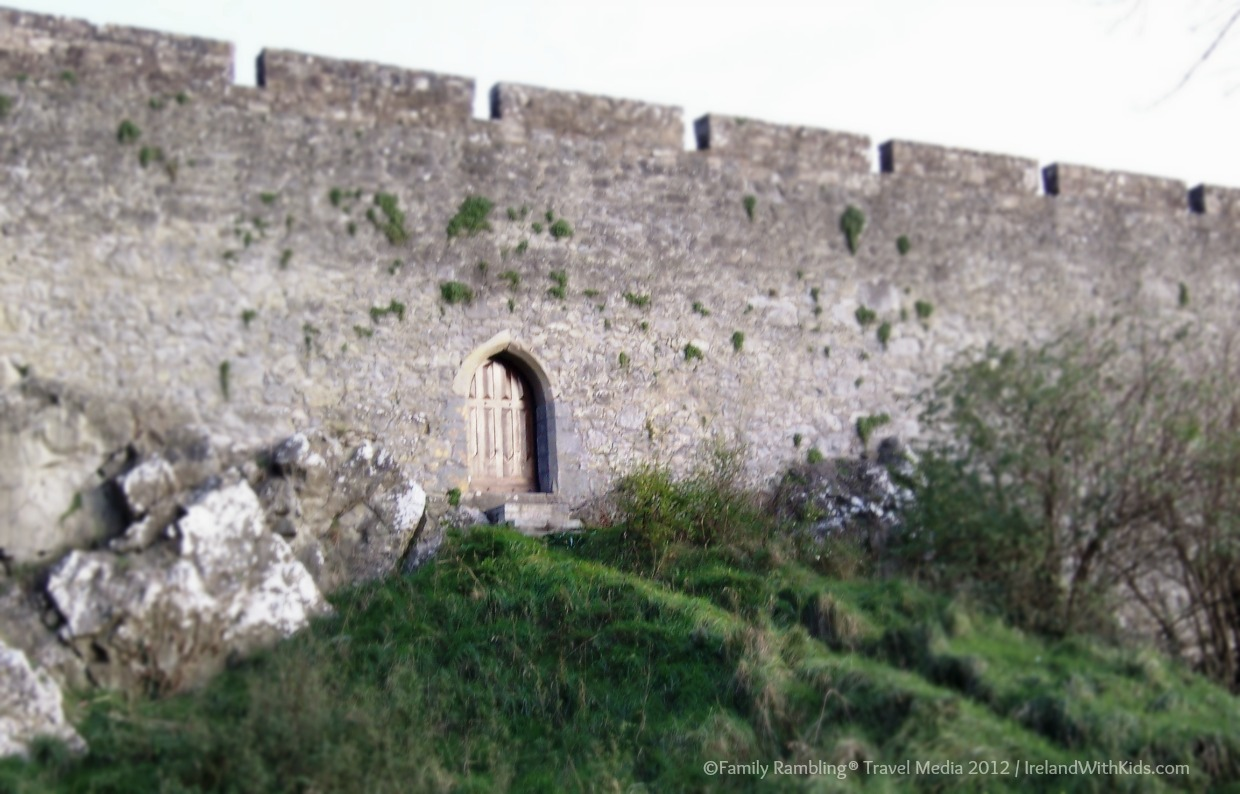 Rear Castle Door, Cahir Castle, County Tipperary, Ireland