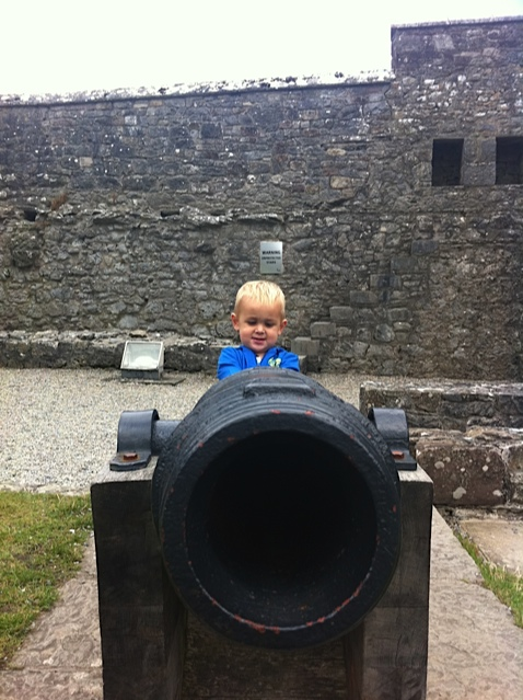 Cannon at Cahir Castle