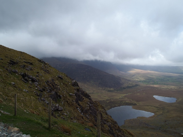 Dramatic view from Connor Pass on the Dingle Peninsula