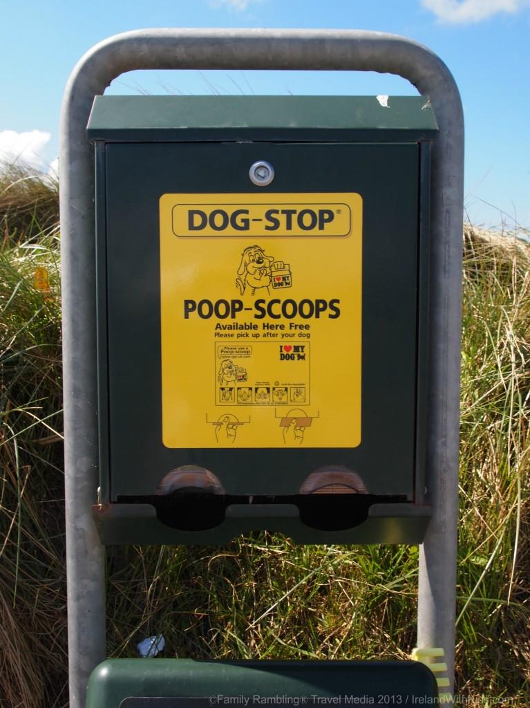 Poop Scoop Bags on Irish Beaches
