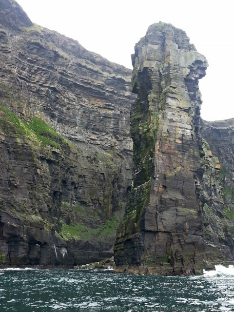Sea Stack at the Base of the Cliffs of Moher