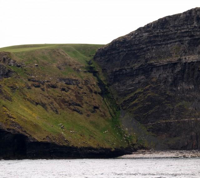 Cliffs of Moher surfing Aileen's wave beach