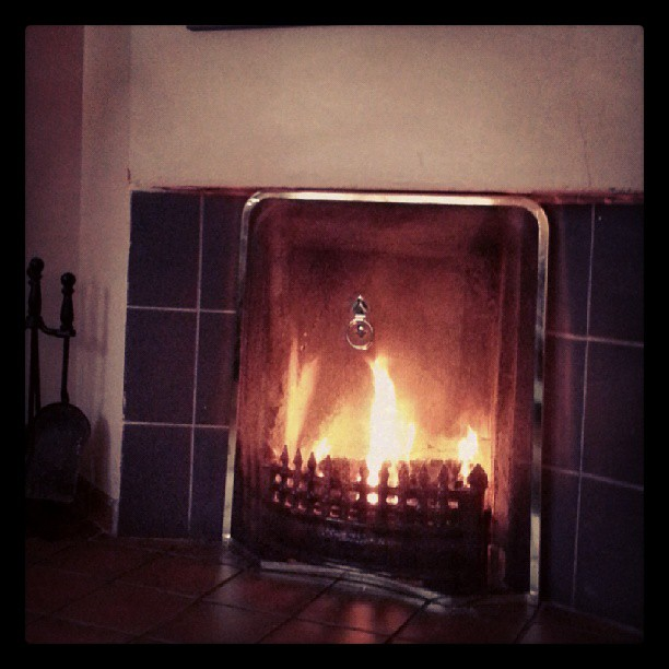 Cozy fire in Connemara self catering cottage