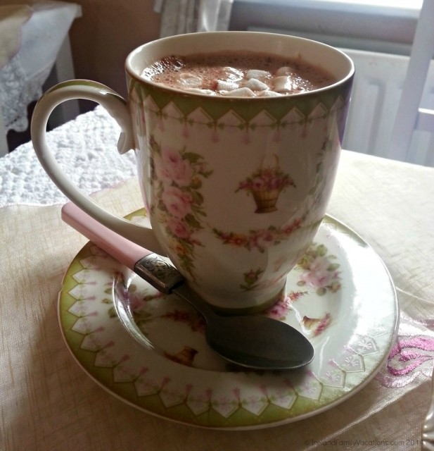 Hot Cocoa at Miss Crumpet's Tea Room, Adare, Ireland