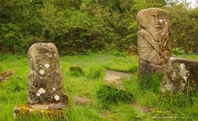 Janus and Lustyman Figures, Boa Isalnd, Fermanagh, Northern Ireland