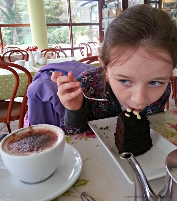 Hot Chocolate at Kylemore Abbey Tea Room, Ireland
