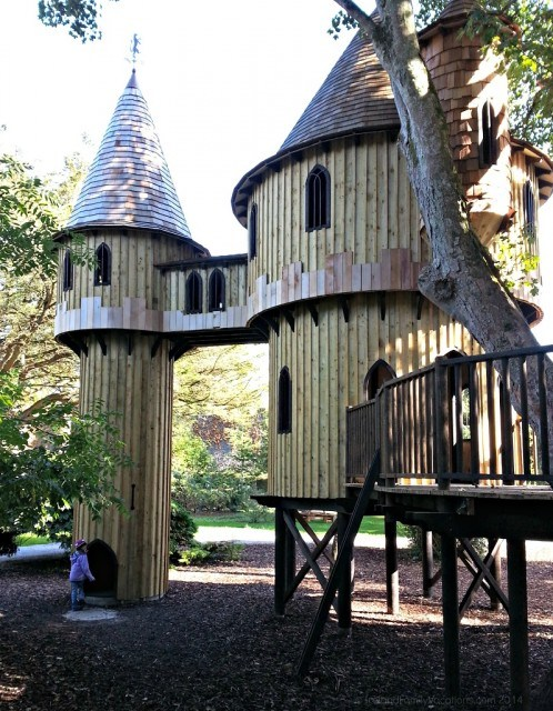 Playing in Ireland's Largest Tree House at Birr Castle