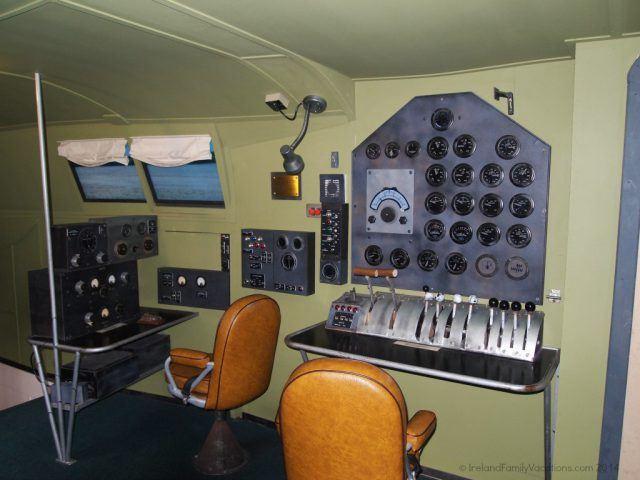 Navigation Room on a Flying Boat, Foynes, Ireland