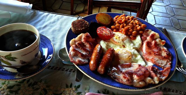Full Irish Breakfast, Woodview Farmhouse B&B, Skerries, Dublin, Ireland