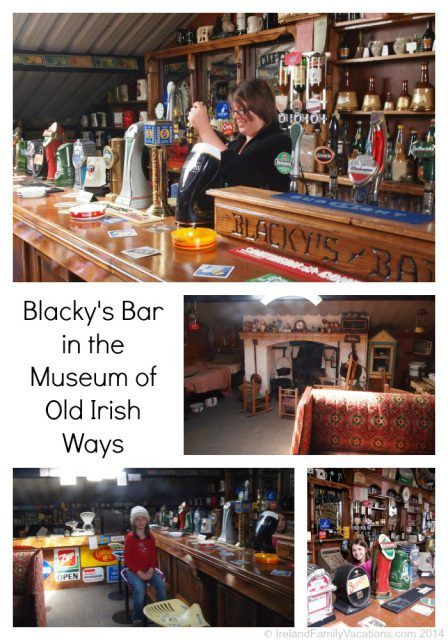 Blacky's Bar in the Museum of Old Irish Ways, County Limerick, Ireland