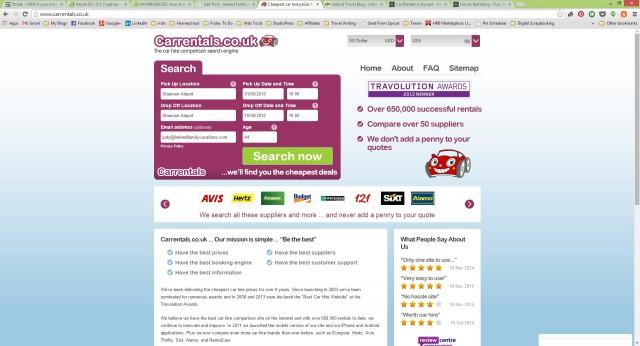 Carrentals.co.uk web site
