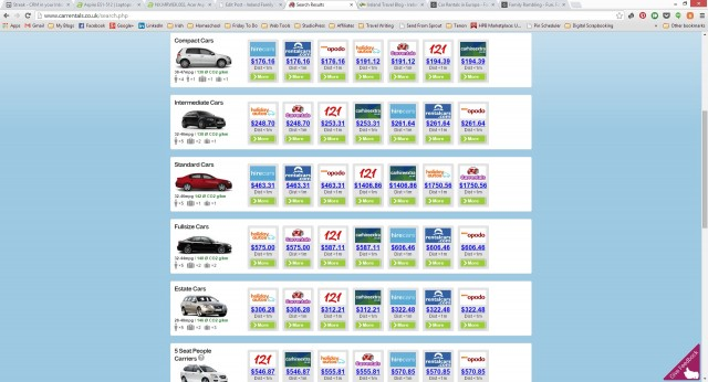 Car rental options & prices with Carrentals.co.uk