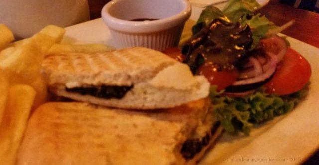 Black Pudding and Goat Cheese Sandwich Durty Nelly's Bunratty Ireland Vacation
