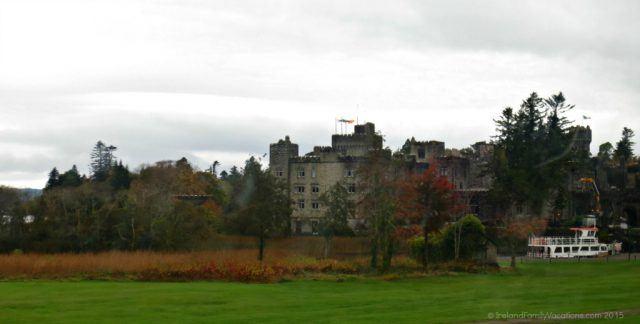 Ireland castle vacation. Ashford Castle from the car window