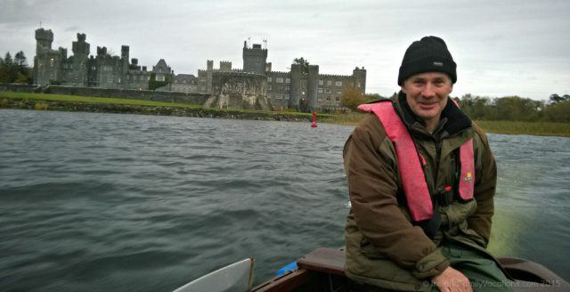Ireland castle vacation. At Ashford Castle you must take a traditional boat ride on Lough Corrib with Frank.