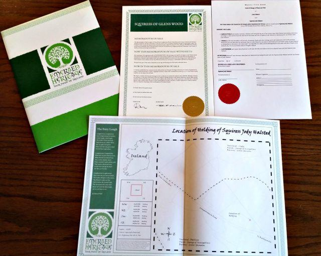 Own land in Ireland. Emerald Heritage - Ireland land ownership official papers