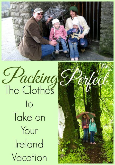 Ireland vacation tip: packing the perfect Ireland vacation clothes for your entire family.