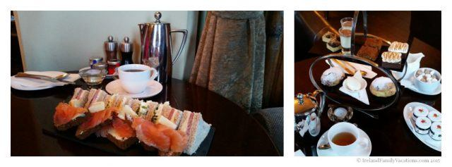 During your Ireland vacation take time to enjoy afternoon tea, like this one at Mount Falcon Estate in County Mayo.