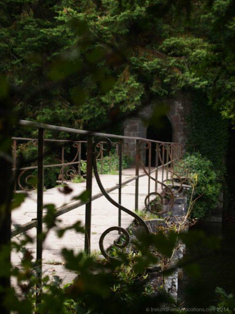 Footbridge across the River Cong, County Mayo, Ireland. Nearby is the Monk's Fishing House. Following the pathway leads you to the Cong Forest Nature Trail. And just upriver is magical Ashford Castle.