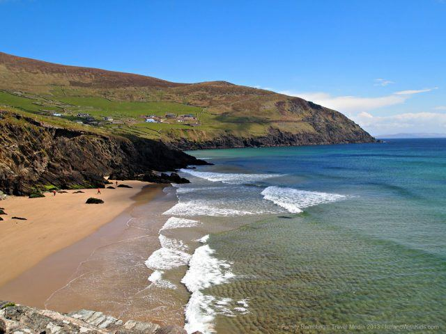 Located along the stunning Dingle Peninsula, Coumenoole Beach can be accessed by a very steep and winding road. The trek, by foot or car (if you're brave) is quite worth it on a fine, sunny day of your Ireland vacation.