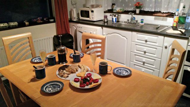 A perfect cottage for making memories -and evening tea! - during your Ireland vacation. Hare's Leap Cottage near Westport, County Mayo.