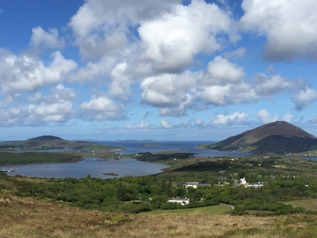 View from Diamond Hill, Connemara National Park, County Galway