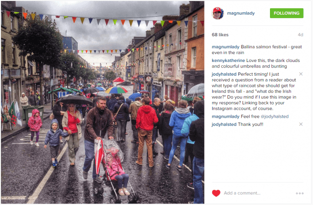 Raincoat for Ireland vacation - what the Irish wear by @magnumlady on Instagram