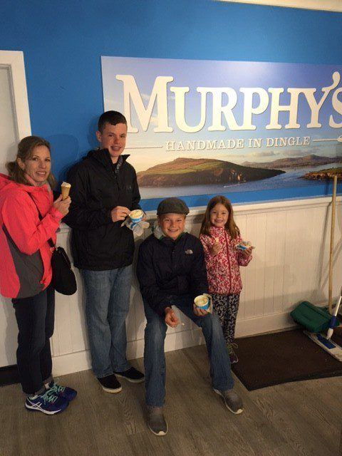 Murphy's Ice Cream. A must during your Ireland vacation. Tips for your Ireland family vacation.