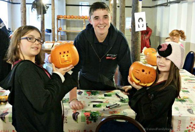Carving jack-o-lanterns at Westport House. Halloween in Ireland. Ireland vacation tips