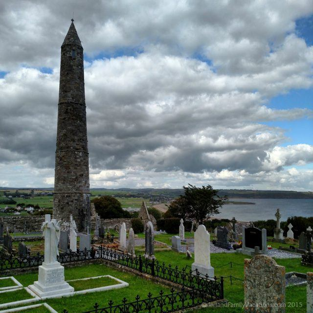 Round Tower in Ardmore, County Waterford, Ireland. Nora Roberts Gallaghers of Ardmore trilogy. Ireland vacation tips.