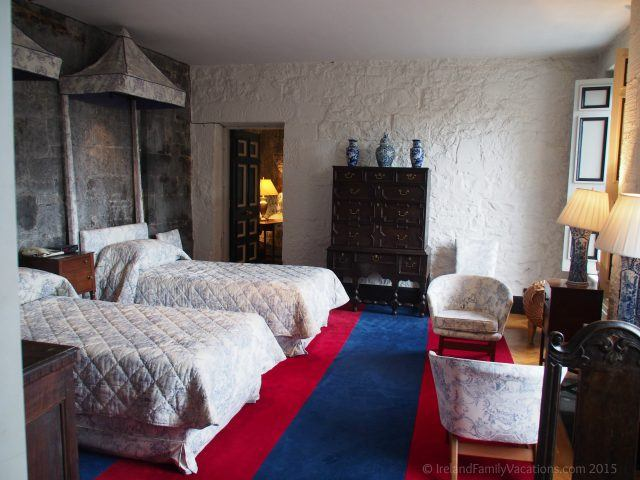 Blue Room in Knappogue Castle, County Clare. Private Ireland Castle Stay. Ireland castle vacation.