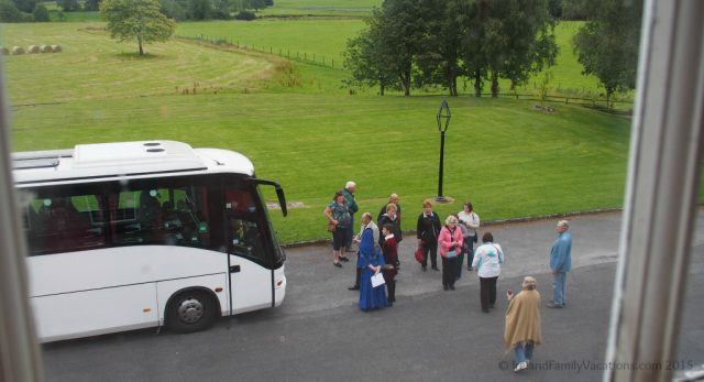 Arriving at Knappogue Castle for the Medieval Banquet. Ireland castle vacation. Ireland vacation tips.